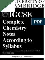 Chemisty IGCSE Updated Till Syllabus