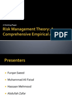 Risk Management Theory