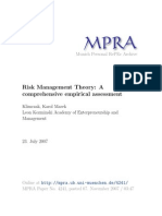 Risk Management Research Article