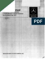 W123 716 Manual Transmission Manual