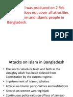 Attcks on Islam and Human Rights Violations in Bangladesh