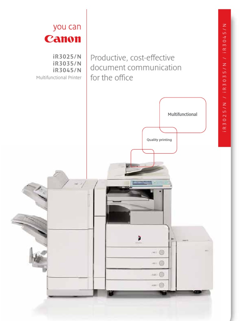 Canon Ir 3025 3035 3045 n Photocopier Brochure[1] | Email | Printer  (Computing)