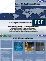 Global Threat Reduction Initiative outline