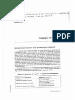 Flick, U - Introducción a la investigación cualitativa. Capítulo VII Estrategias de muestreo