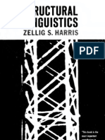 Zellig Harris. Structural Linguistics