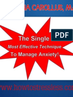 Single Most Effective Technique to Manage Anxiety
