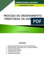 Proceso de OT en San Martín