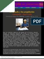 Derrida, Jacques - El Filósofo y Los Arquitectos