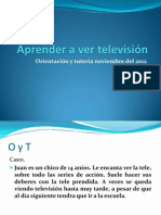 Aprender a ver televisión (tutoria 2do secundaria)