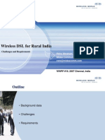 Wireless DSL for Rural India