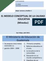 El Modelo Conceptual de La Calidad Educativa. Lectura 5