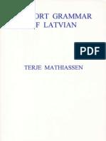 A Short Grammar of Latvian