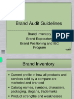Brand Audit Guidelines