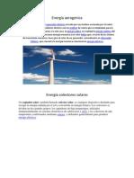 Energía aerogenica