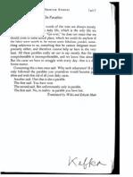 Kafka, F.on Parables