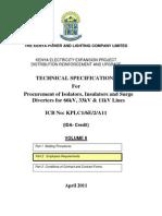 Technical Specifications- Isolators