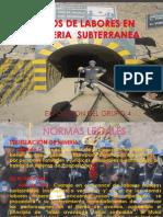 Tipos de Labores en Mineria Subterranea