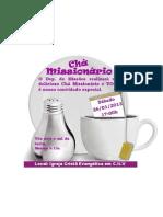Convite chá missionário