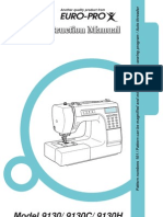 Euro-pro Sewing Machine Manual