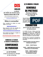 Annonces Du Pieu de Bruxelles 02-19