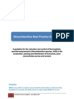 Alicyclobacillus Best Practice Guideline