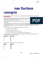 Response Surface Designs
