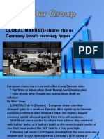 GLOBAL MARKETS-Shares rise as Germany boosts recovery hopes