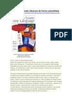 Como Eu Aprendo Idiomas de Forma Autodidata