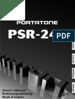 Manual Teclado Yamaha PSR240S