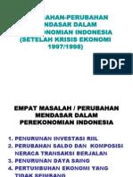 Perubahan Mendasar perekonomian indonesia