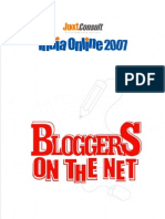 Internet usage and behavioral study of Bloggers - 2007