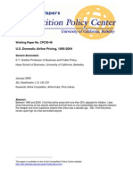 U.S. Domestic Airline Pricing1995-2004