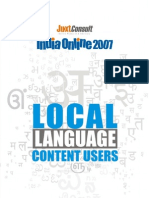 JuxtConsult India Online 2007 Local Language Content Users Report