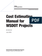 Cost Estimating Manual for WSDOT Projects