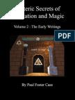 Esoteric Secrets of Meditation Magic Volume 2 Case Paul Foster