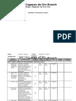 3 - Progress Sheet