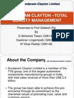 Sundaram Clayton Tqm