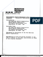 Environmental Health Management Natural Disaster No-430 1982