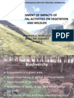 Assessment of Impacts of Developmental Activities on Vegetation and Wildlife