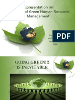 A Presentation on GREEN HRM (1)