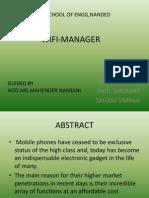 Wifi Manager presentation