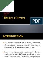 Theory of Errors