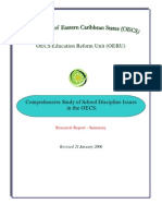 Comprehensive Study of Research School Discipline Issues in the OECS