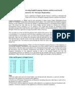 Project Cryptanalysis English Language Statistics