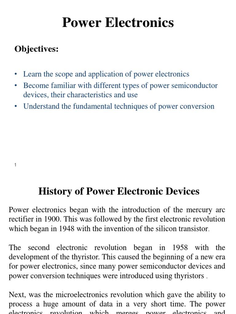 Power Electronics Introduction | Power Electronics | Rectifier