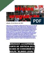 Noticias Uruguayas sábado 23 de febrero del 2013