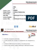 SE Unit 13 CMM Process Improvement PPT Final