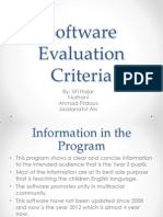 Software Evaluation Criteria