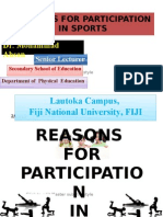 Reasons for sports participation