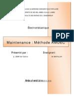 Maintenance_Méthode AMDEC